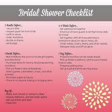 bridal shower planner bridal shower planning timeline us