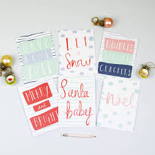let it snow christmas card pack by louise and lygo