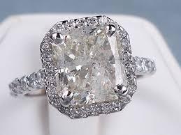 radiant cut engagement ring 4 40 ctw radiant cut diamond engagement ring