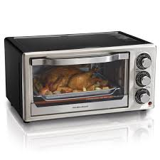 Toaster Oven Broil Hamilton Beach Black Convection 6 Slice Toaster Oven W Broiler