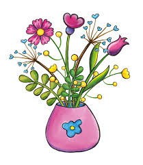 Clipart Vase Of Flowers Bouquet Of Flowers Hand Drawn Clip Art Illustration Stock