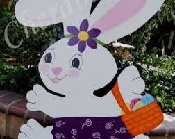 Easter Wooden Yard Decorations by Easter Yard Art Etsy