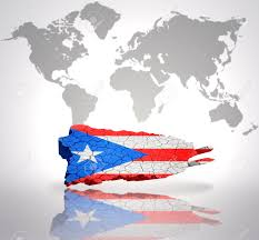 Puerto Rico On Map by Map Of Puerto Rico With Puerto Rican Flag On A World Map