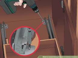 Installing Cabinets In Kitchen How To Install Sliding Shelves In Kitchen Cabinets With Pictures