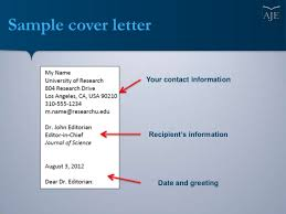 article cover letter writing a cover letter for your scientific manuscript