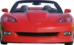 corvette front c6 corvette 2005 2012 aci front chin spoiler splitter base