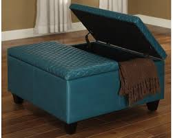 Square Leather Ottoman With Storage Alluring Large Storage Ottoman Contemporary Faux Leather Square