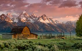Wallpaper Barn Photos Usa Wyoming Barn Teton Nature Mountains Sunrises And Sunsets