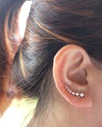 earrings that go up the ear best 25 ear crawler earrings ideas on jewels ear