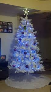 Blue White And Silver Christmas Tree - christmas trend white christmas tree with blue lights for home