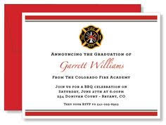 academy graduation invitations academy graduation announcement firefighting