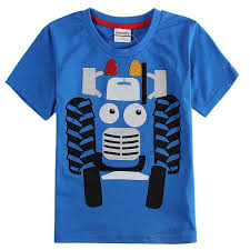 clothes boys t shirts children clothing tractor print