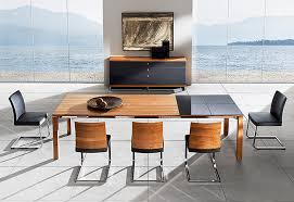 Modern Dining Room Table Set Dining Room Contemporary Modern Brown Wood Andh Half Glass