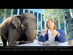spiriva commercial elephant actress the commercial curmudgeon march 2013