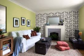 living painting ideas for accent wall living room green accent