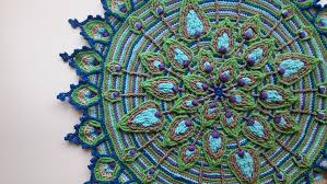 Crochet Patterns For Home Decor Overlay Crochet Peacock Feather Mandala Pattern Crocheted Home