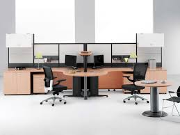Simple Wooden Office Tables Dark Gray Office Room Interior Design With White Solid Wood Office