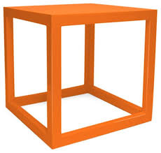 sold out jonathan adler orange lacquer cube 350 est retail