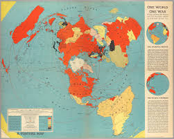 Red Sea World Map by One World One War Cornell University Library Digital