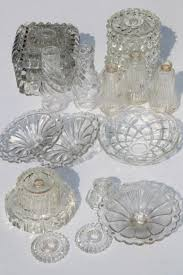 Chandelier Parts Crystal Vintage Pressed Glass Lamp Bases U0026 Parts Lot Bobeches For