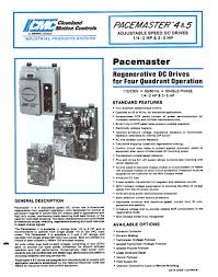 dc drives pacemaster 4 u0026 5 datasheet cleveland motion controls