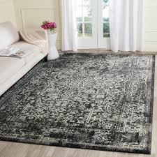 Black And Gray Area Rug Safavieh Evoke Black Gray 8 Ft X 10 Ft Area Rug Evk256r 8 The