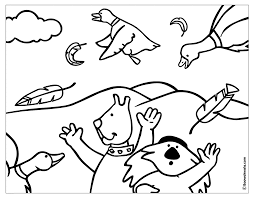 free printable birds colouring pages for toddlers and kindergarten