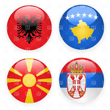 Macedonian Flag Macedonia Kosovo Serbia And Albania Button Flags Royalty Free