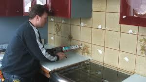credence cuisine verre trempé rhabiller sa cuisine en plaques de verre