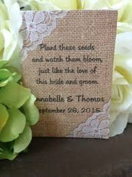 seed favors burlap and lace wedding seed packets wedding favors favor universe