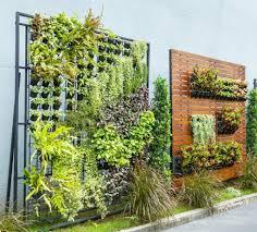 urban vertical vegetable garden with modern planters wonderful