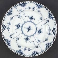 royal copenhagen blue fluted lace gold trim at