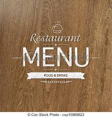 vector illustration of retro wood restaurant menu design vector