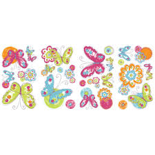 cool kids brush work butterfly wall decals wallpaper border cool kids brush work butterfly wall decals