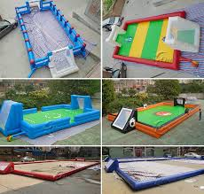 Backyard Sports Game Commercial Grade Inflatable Soccer Field Blow Up Football Soap