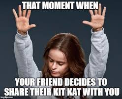 Kat Meme - kit kat canada on twitter show us your share face