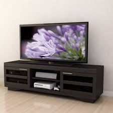 tv stand entertainment center made of oak wood in black finished