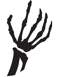 skeleton hand pumpkin carving template halloween aimless moments