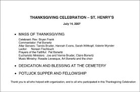 2007 celebration of thanksgiving st henrys