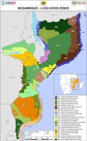 Usda Zone Map Mozambique Livelihood Zone Map Thu 2014 01 16 Famine Early