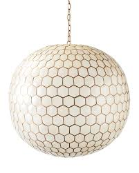 Capiz Light Pendant Capiz Honeycomb Chandelier Serena