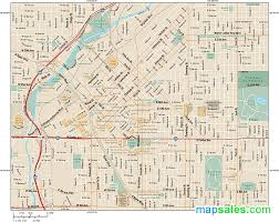 denver downtown wall map by map resources