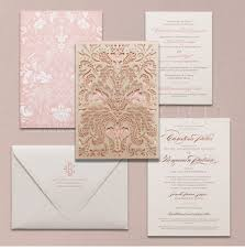 beautiful luxury indian wedding invitations pink gold handmade