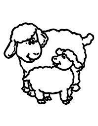 printable sheep lamb coloring freshcoloring clip
