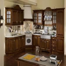 cheap price mdf wooden cabinet modular kitchen with hood and