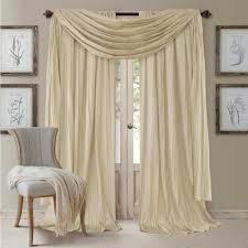 semi opaque ivory rod pocket 2 window curtain panel 52 in w x