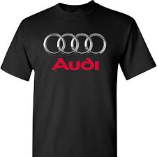 audi logo black and white audi logo on a black t shirt bqnshirt com