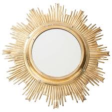 solid brass high quality sunburst mirror france 1950s for sale at