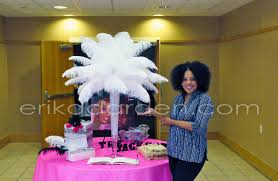 Centerpiece With Feathers by Feather Centerpieces Party Favors Ideas