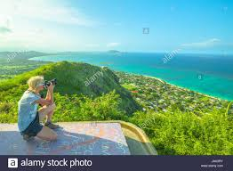 Hawaii travel photographer images Travel photographer takes shot of lanikai beach and kailua beach jpg